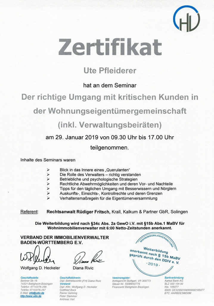 Screenshot Zertifikat 1